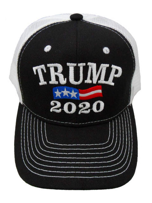 Trump 2020 Mesh Cap - Black/White