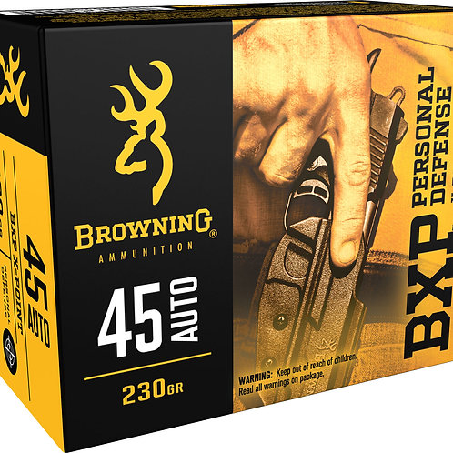 Browning Ammo B191700451 BXP 45 ACP 230 gr Hollow Point (HP) 20/Box