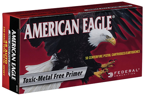 Federal American Eagle Indoor Range Training 45 ACP 230 gr Total Metal Jacket 50