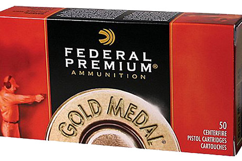 Federal GM45B Gold Medal 45 ACP 185 gr Full Metal Jacket Semi-Wadcutter 50/Box