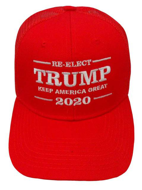 Re-Elect Trump Keep America Great 2020 Mesh Cap - Red