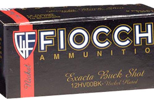 """Fiocchi 12LE00BK Exacta 12 Gauge 2.75"""" 9 Pellets 00 Buck Shot 10/Box"""