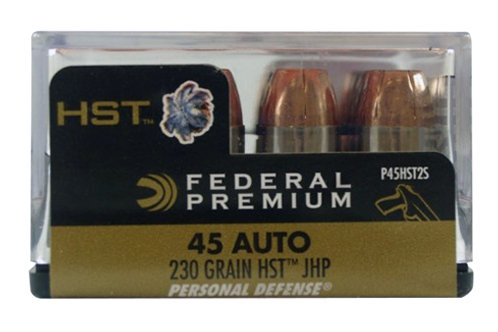 Federal Premium Personal Defense 45 ACP 230 gr HST Jacketed Hollow Point 20/Box