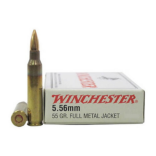 Winchester Ammo 5.56x45mm NATO USA, 55 Grains, Full Metal Jacket, Per 20