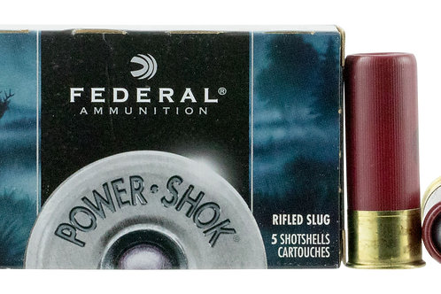 """Federal F127RS Power-Shok 12 Gauge 2.75"""" 1 oz Slug Shot 5/Box"""