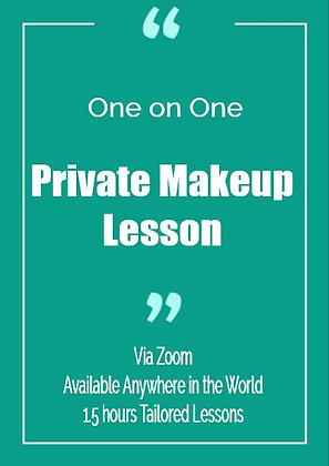 One on One Private Makeup Lesson