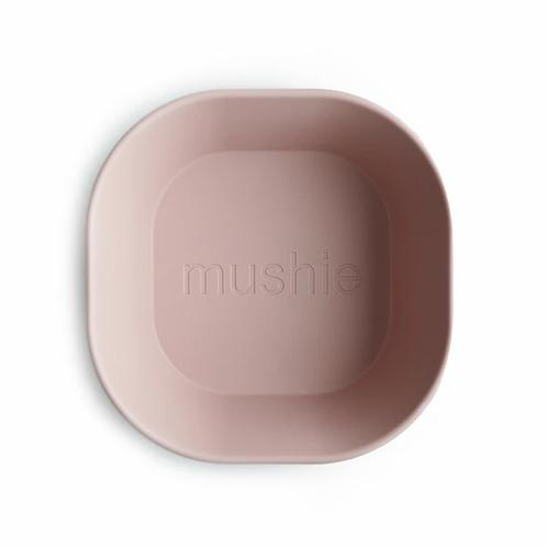 Mushie Square Bowls- Set of 2 - Blush
