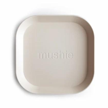 Mushie Square Plates - Set of 2 - Ivory