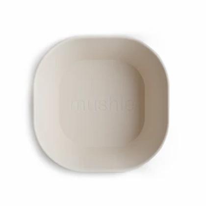 Mushie Square Bowls- Set of 2 - Ivory