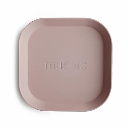 Mushie Square Plates - Set of 2 - Blush
