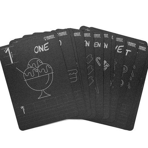 Chalkboard Number Flash Cards