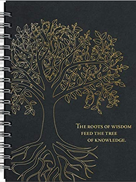 Tree of Life Journal (Notebook, Diary) (Black Rock) Hardcover-spiral