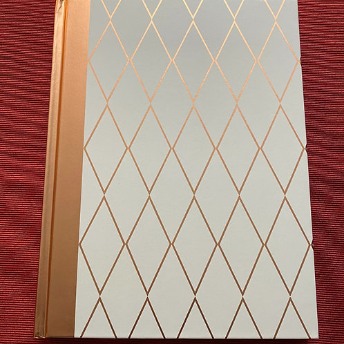 Copper & White Hard Cover Notebook