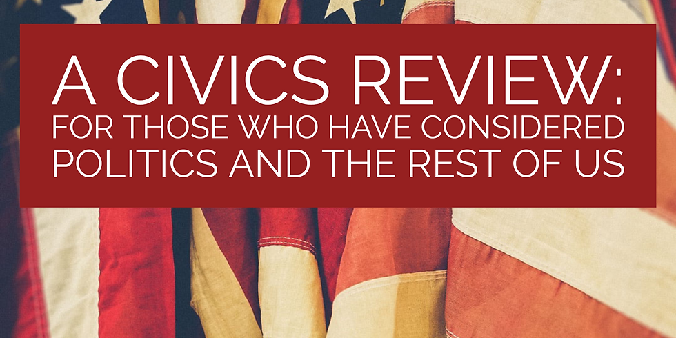 A Civics Review Webinar - Our Health Is Political - Write About It