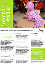 early years outdoor learning walk flyer