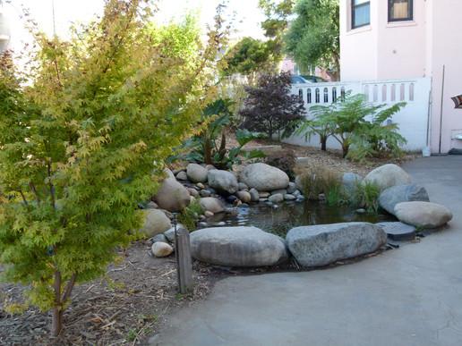 Sherman School playground pond