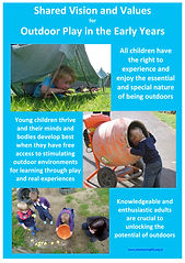 Vision Values outdoor play early years