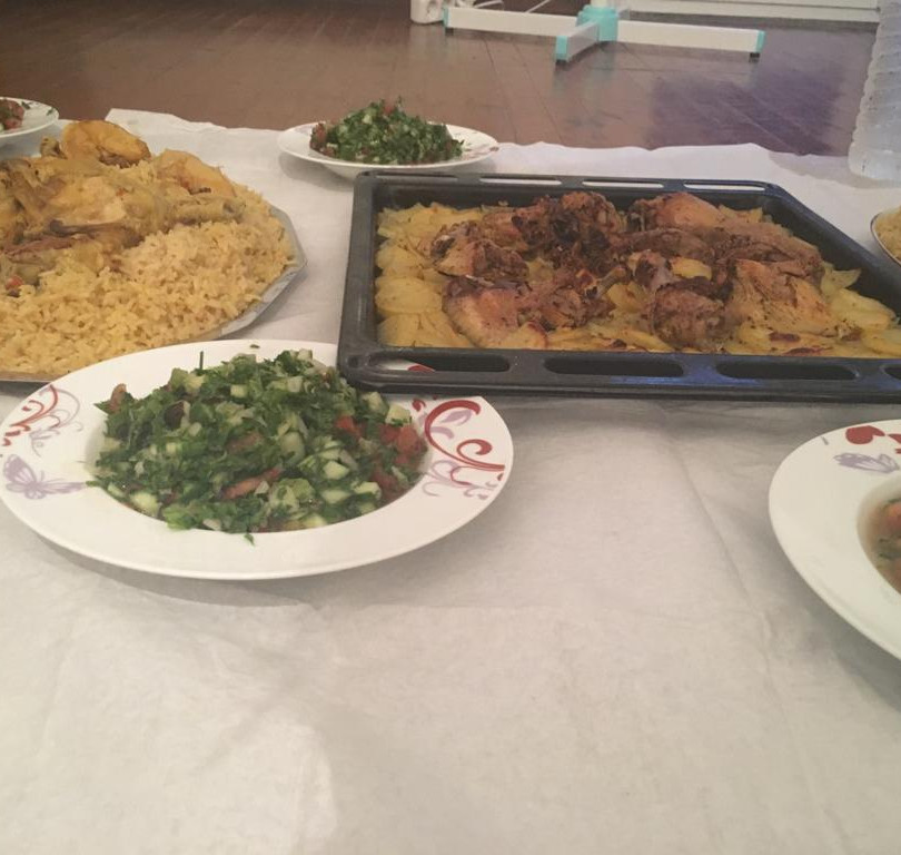 Rice and chicken for iftar - Thessaloniki, Greece