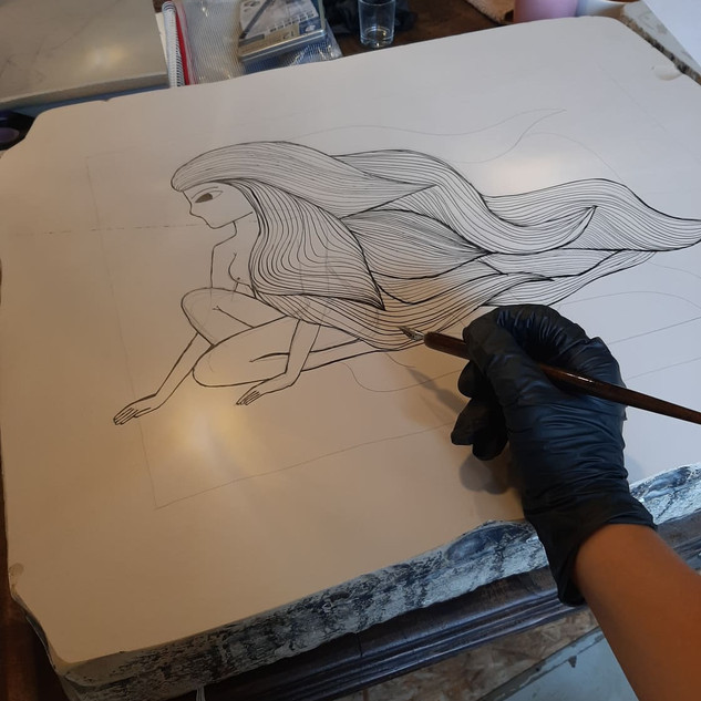Lithografie colab Lieven Hendrickx (Studio Rots)