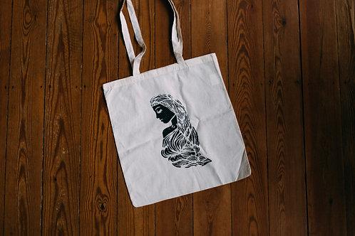tote bag: lady
