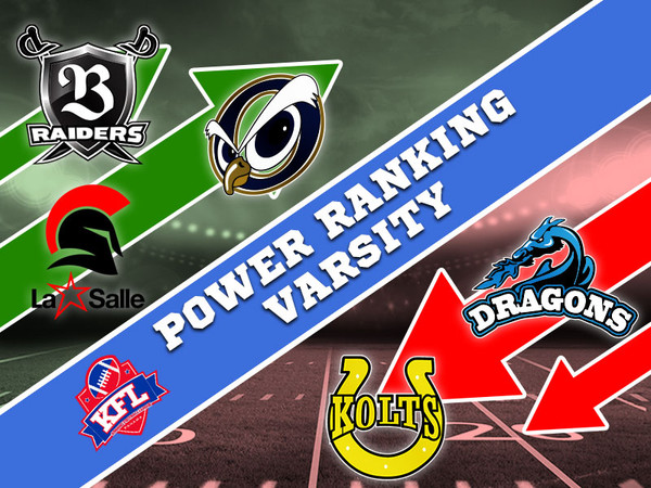Power Ranking Varsity - After Week 8
