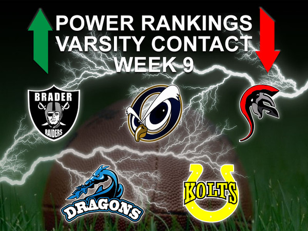 Power Rankings Week 9 Varsity Contact