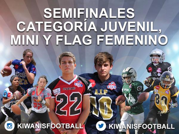 Análisis de las semifinales. Categoría Juvenil, Mini y  Flag Femenino.