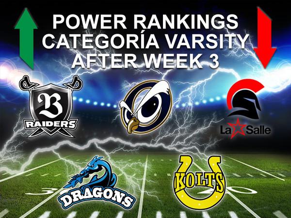 Power Ranking Varsity Week 3