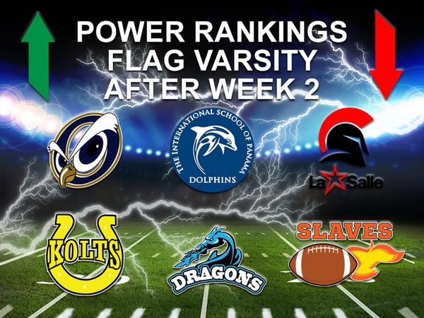 Power Ranking Flag Varsity Week 2