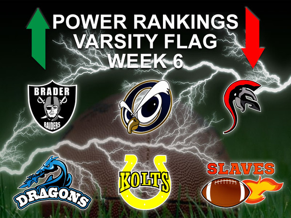 Power Rankings Week 6 Varsity Flag