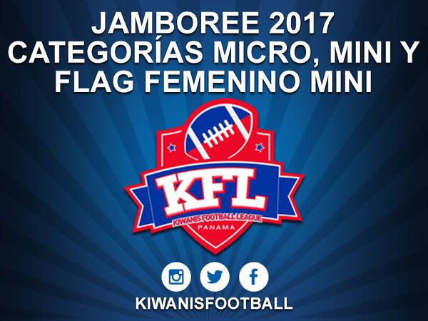 Jamboree 2017. Categorías Micro, Mini y Flag Mini