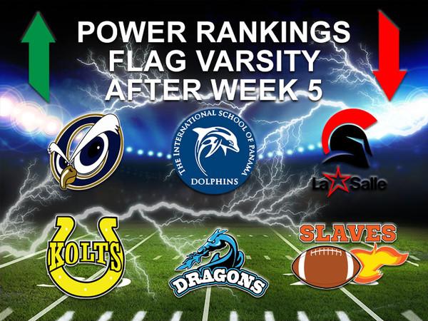 Power Ranking Flag Varsity Week 5