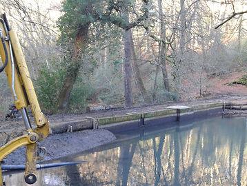 Waggoners Wells restored dam 2012