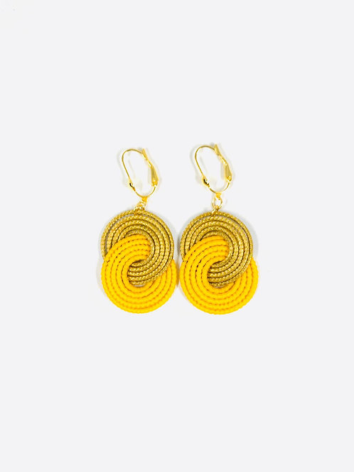 Yellow Caracol Earrings