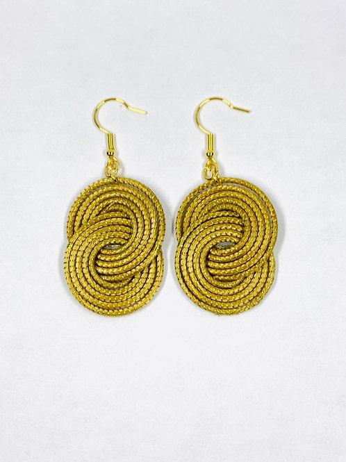 Gold Caracol  Earrings
