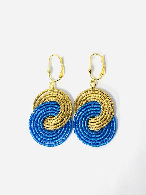 Sky Blue Caracol  Earrings