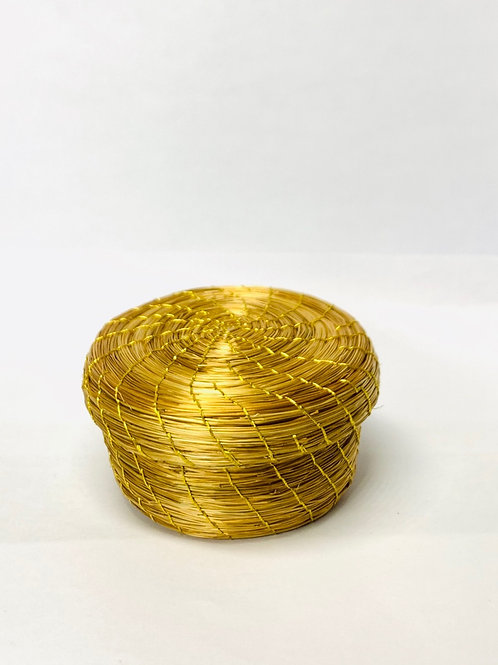 Small Golden Grass Pot