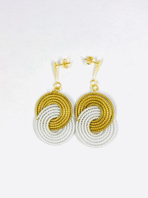 White Caracol  Earrings