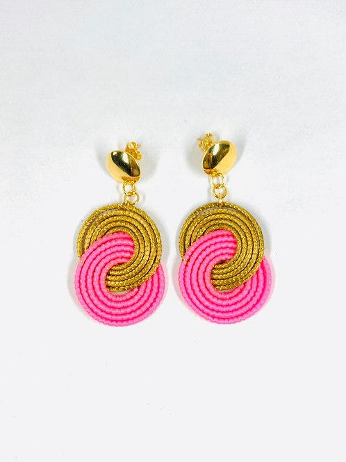 Pink Caracol  Earrings