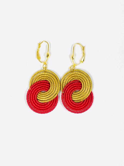 Red Caracol  Earrings