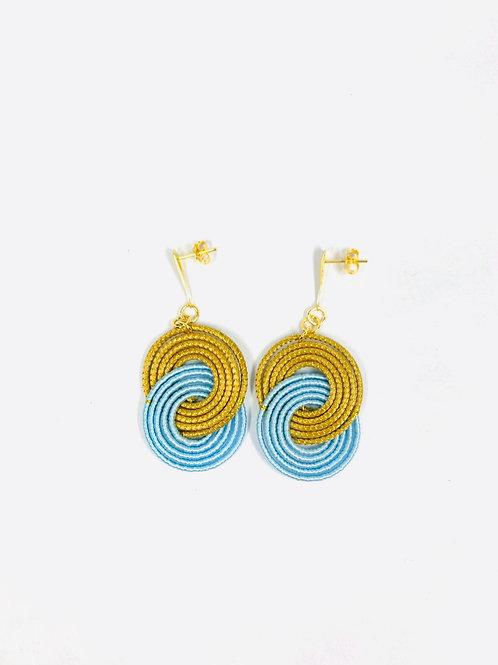 Blue Caracol  Earrings