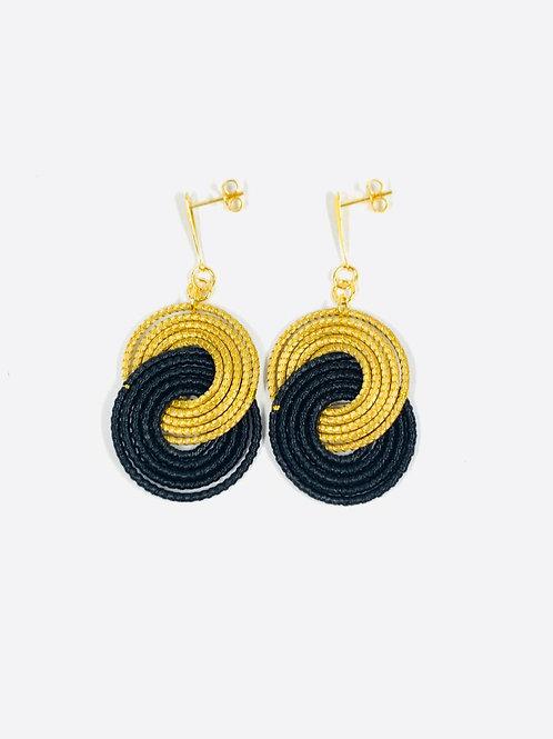 Black Caracol Earrings