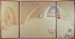 On restoration (triptych, open)