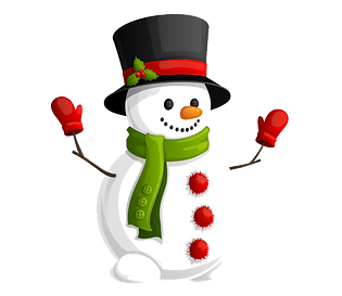 transparent-snowman-with-green-scarf-cli