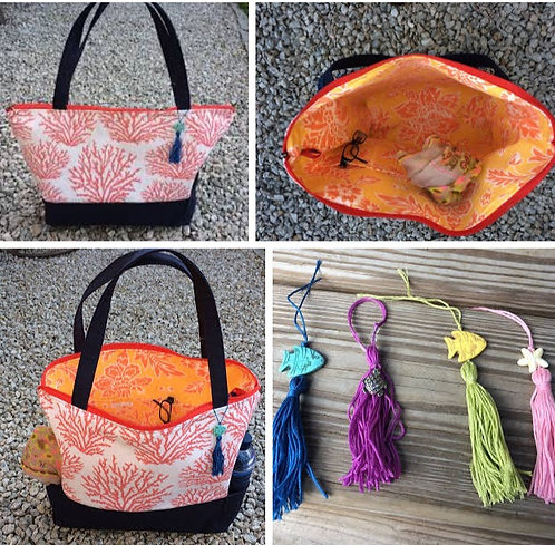 Large Tote- Coral
