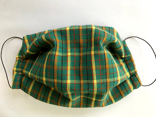 Face Mask - green plaid