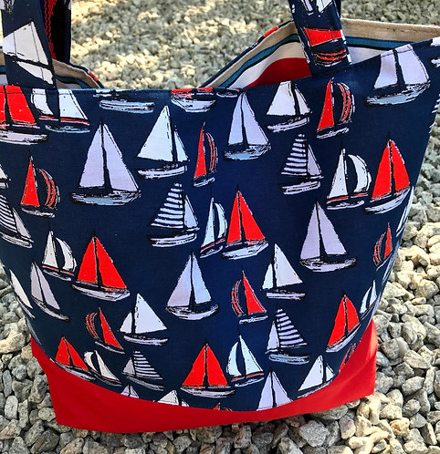 Everyday Tote - Sailboat
