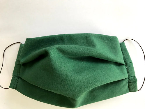Face Mask - solid green