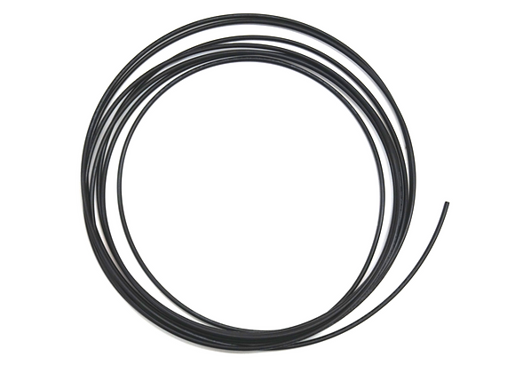 """(#16) 1/8"""" ID 1/4"""" OD Solid Black Tubing (WW1215)"""