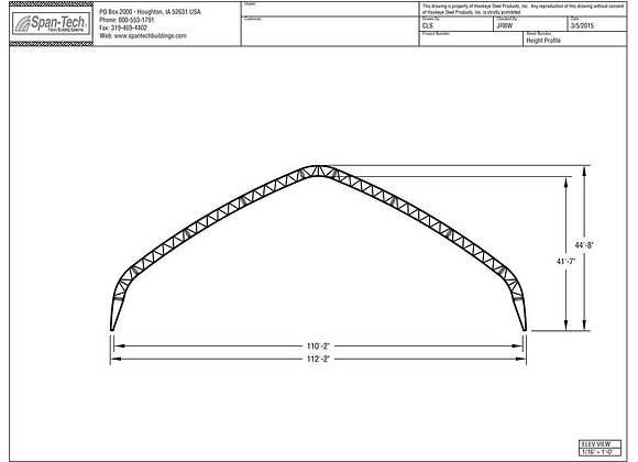 112' Wide Building (Gable Truss)